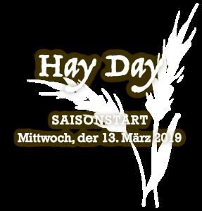 Saisonstart: Mittwoch, der 13. März 2019