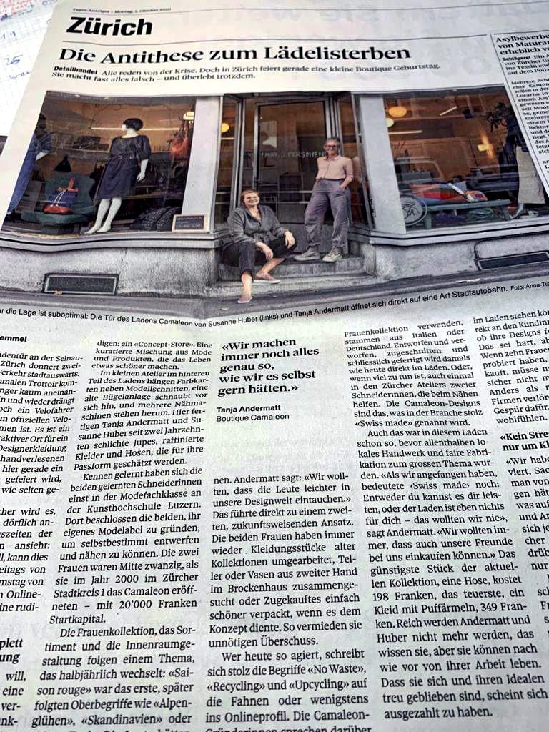 Zeitungsartikel – Tages-Anzeiger – Montag, 5. Oktober 2020